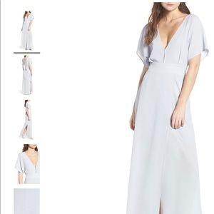 NWT WAYF Carrara Slit Maxi Dress